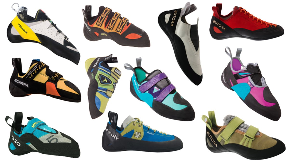 Climbing and bouldering shoes