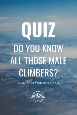 Quiz: Do you know those male climbers?