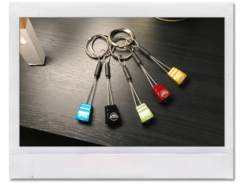 climbing nut keychain for climbers by bestboulders