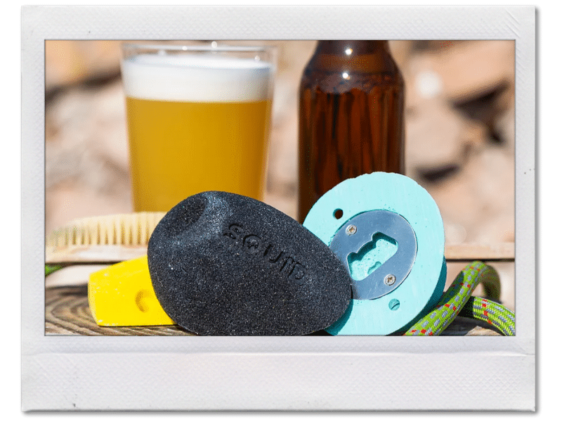 Climbing hold bottle opener for climbers by squid climbing